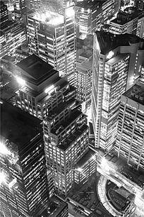 悉尼城市的摩天大楼夜色景观