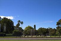 悉尼城市街区风光喷泉