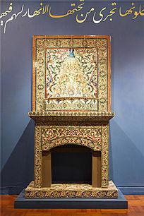澳洲阿德莱德艺术馆的伊斯兰风格壁炉