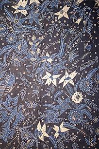 澳洲阿德莱德艺术馆里的布艺印花图案展品