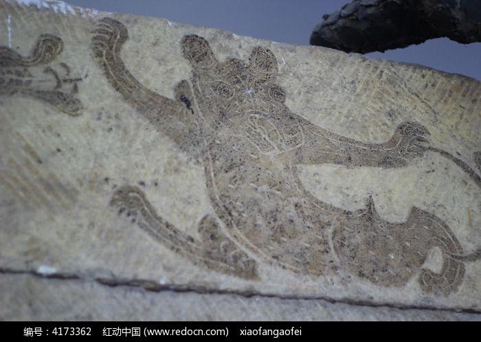 墓葬雕刻的跳动的动物图片