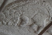 形似刺猬的小动物石雕