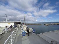 大邮轮的休闲甲板区