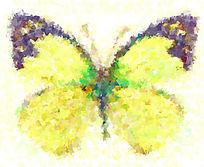 蝴蝶欧美抽象油画