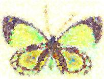 蝴蝶 油画