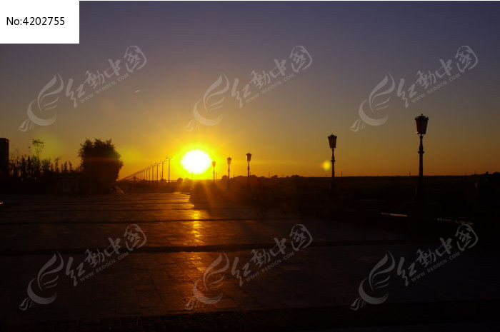 夕阳西下图片,高清大图