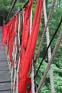 引凤桥上的红丝带