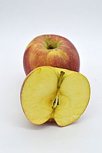一个半苹果造型图片
