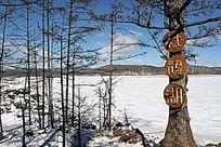 阿尔山杜鹃湖雪景