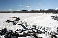 阿尔山杜鹃湖雪景风光