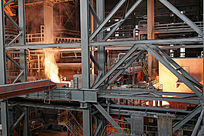 包钢集团车间炉火