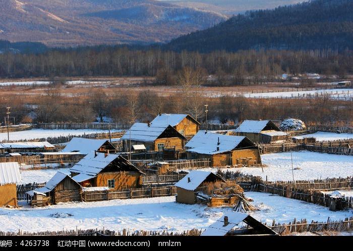 边境村庄太平川村雪景图片,高清大图_乡村小镇素材