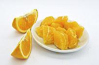 橙子瓣和块