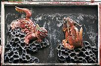 陈家祠陶塑民间传说动物