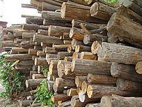 多块细木木头切割纹理