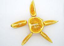 俯拍橙子造型