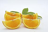 排列的橙子瓣