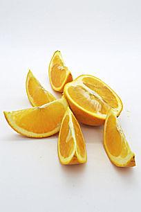 散放的橙子瓣