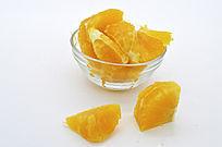 散落的橙子块