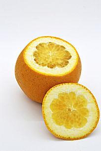 一个橙子的切面