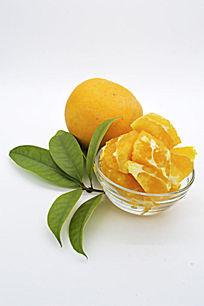 一个橙子和肉叶