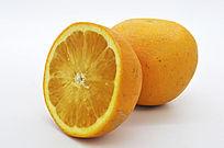 一个和半个橙子