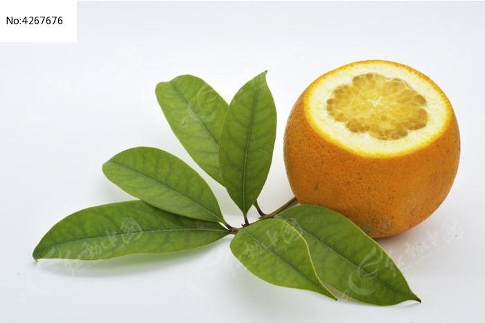 原创摄影图 餐饮美食 水果蔬菜 一个切面橙子