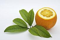 一个切面橙子