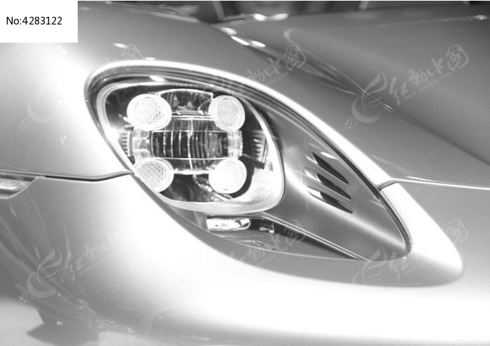 汽车前灯图片,高清大图