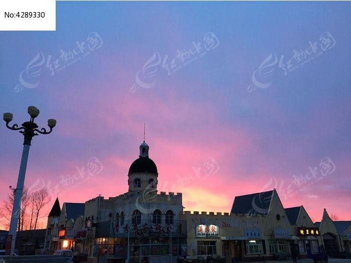 欧式古堡式建筑高清图片下载 编号4289330 红动网