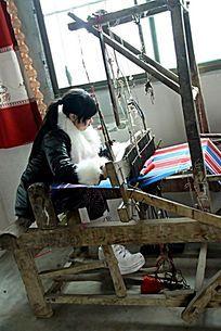 手工织布机