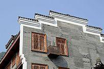 广西桂林杨堤古镇建筑外观特写图片