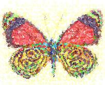 蝴蝶抽象画