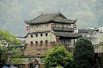 湖南湘西凤凰古城古建筑特写