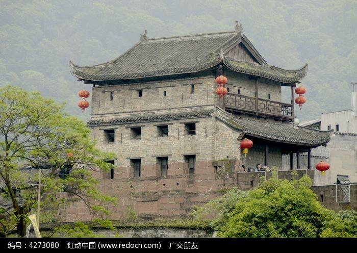 湖南湘西凤凰古城古建筑特写图片图片