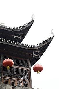 湖南湘西乾州古城古建筑吊脚楼图片