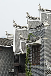 湖南湘西乾州古城古建筑特写图片