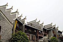湖南湘西乾州古城古老建筑特写图片