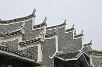 湖南湘西乾州古城古老建筑外观图