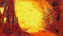 树木风景油画