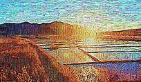 田野山水油画