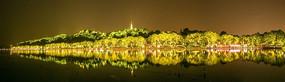 杭州西湖北山路夜景