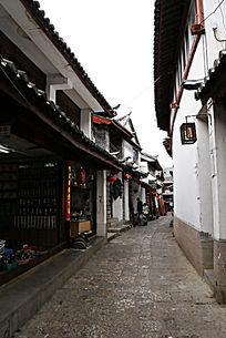 丽江古城纳西老巷风景
