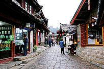 丽江古城石板小巷