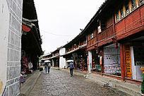 丽江古城石板小巷景观