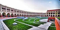 天津民园体育场内景-台阶式广场