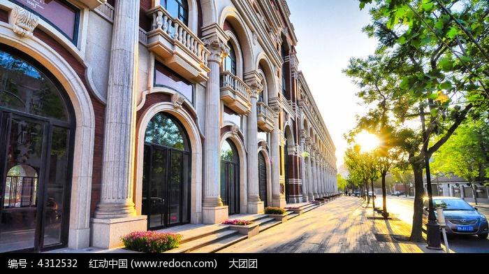 天津五大道风景-欧式建筑外墙图片