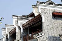 广西桂林杨堤古城古镇建筑外观特写图片