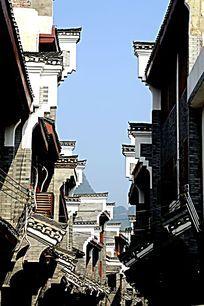 广西桂林杨堤古镇建筑外观