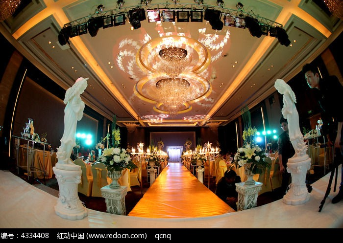 大气欧式婚礼场景布置图片